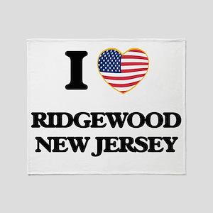 I love Ridgewood New Jersey Throw Blanket