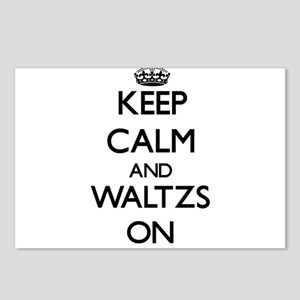 Keep Calm and Waltzs ON Postcards (Package of 8)