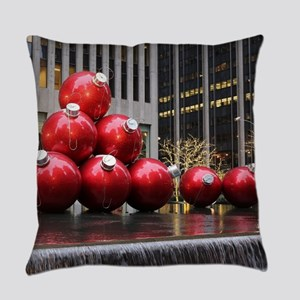 Christmas Ball Ornaments Everyday Pillow