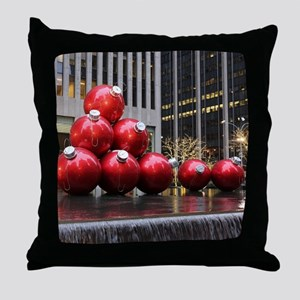 Christmas Ball Ornaments Throw Pillow