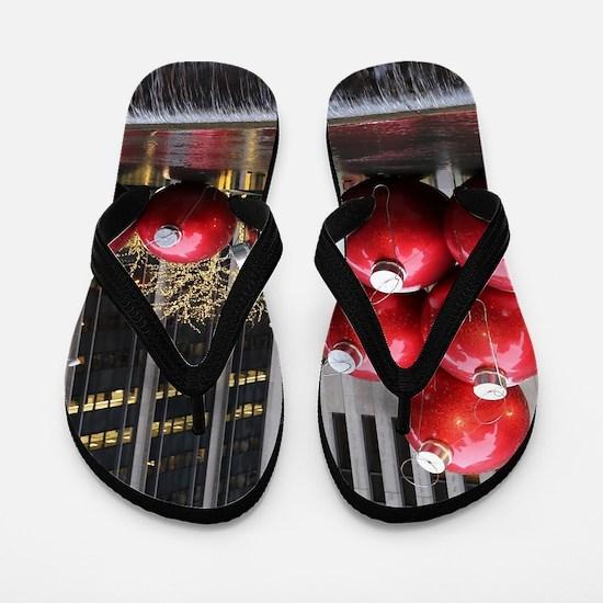 Christmas Ball Ornaments Flip Flops