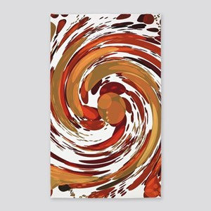 Red Wormhole Area Rug