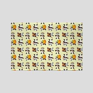 PANDA BEARS Rectangle Magnet