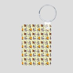 PANDA BEARS Aluminum Photo Keychain