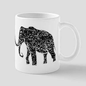 Distressed Mammoth Silhouette Mugs