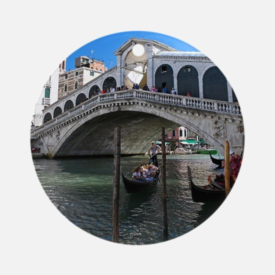 Venice Gift Store Pro Photo Ornament (Round)
