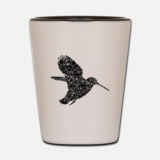 Distressed Hummingbird Silhouette Shot Glass