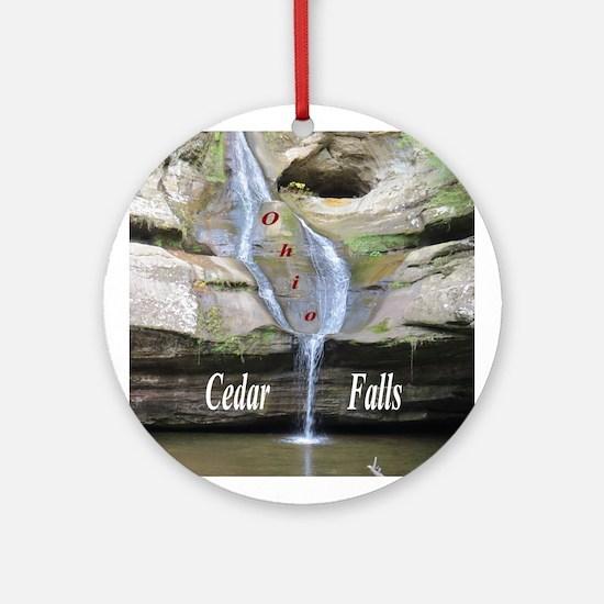 Cedar Falls Ohio Ornament (Round)