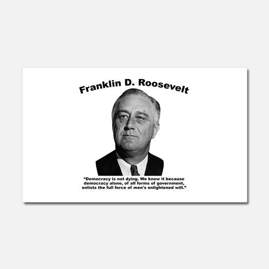 FDR: Democracy Car Magnet 20 x 12