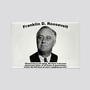 FDR: Democracy Rectangle Magnet