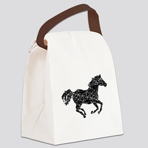 Distressed Horse Running Silhouette Canvas Lunch B