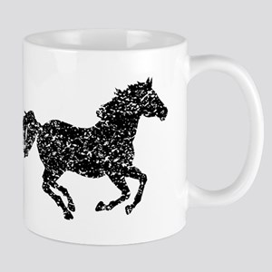Distressed Horse Running Silhouette Mugs