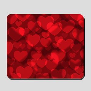 Red Heart Bokeh Mousepad