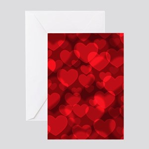 Red Heart Bokeh Greeting Cards