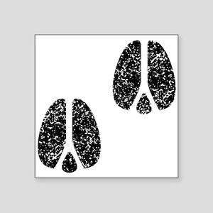Distressed Hoofprints Silhouette Sticker