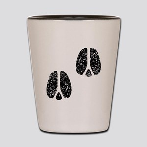 Distressed Hoofprints Silhouette Shot Glass