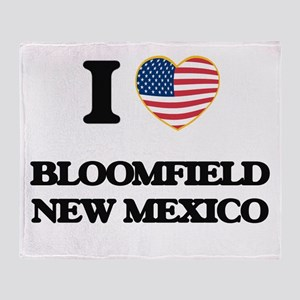 I love Bloomfield New Mexico Throw Blanket