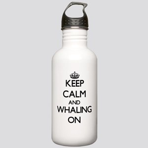 Keep Calm and Whaling Stainless Water Bottle 1.0L