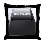 Computer ESC Key Throw Pillow