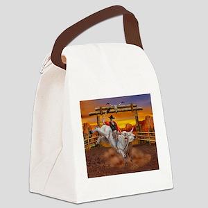 Ride 'em Cowboy Canvas Lunch Bag