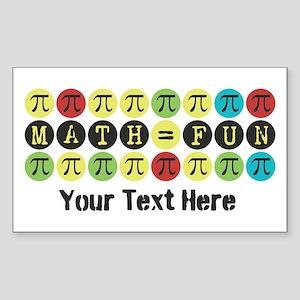 Customize Math = Fun Sticker