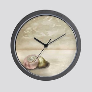 Seashell on the Beach Wall Clock