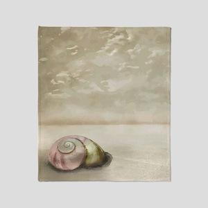 Seashell on the Beach Throw Blanket