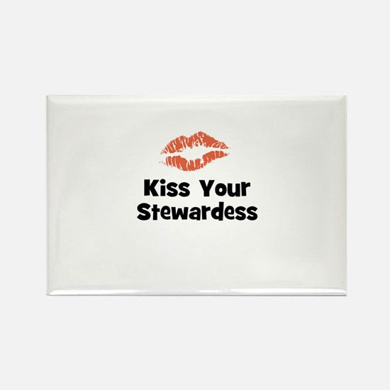 Kiss Your Stewardess Rectangle Magnet