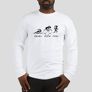 Swim Bike Run (Girl) Long Sleeve T-Shirt