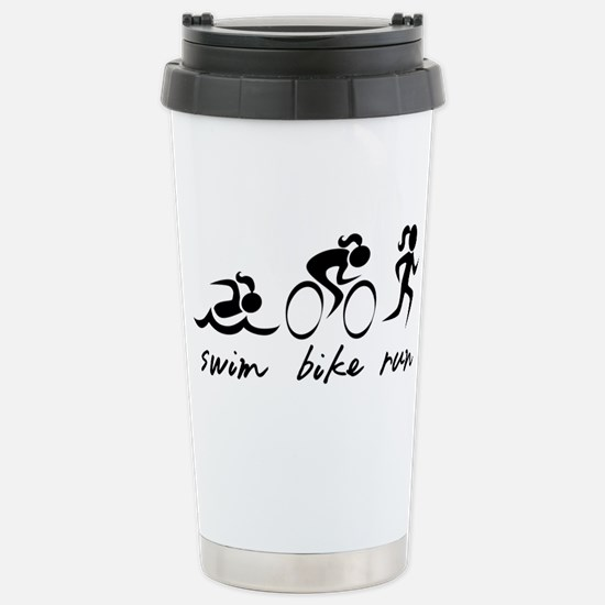 Swim Bike Run (Girl) Stainless Steel Travel Mug