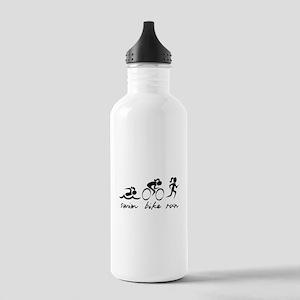 Swim Bike Run (Girl) Stainless Water Bottle 1.0L