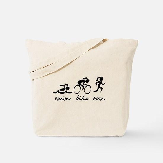 Swim Bike Run (Girl) Tote Bag