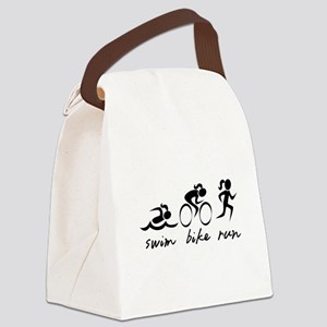 Swim Bike Run (Girl) Canvas Lunch Bag