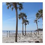 Hunting Island, SC Square Car Magnet 3