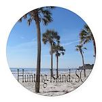 Hunting Island, SC Round Car Magnet