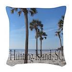 Hunting Island, SC Woven Throw Pillow