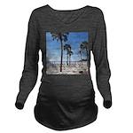 Hunting Island, SC Long Sleeve Maternity T-Shirt