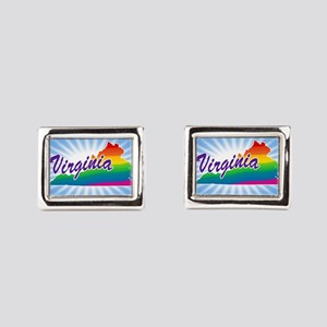 Rainbow State Rectangular Cufflinks