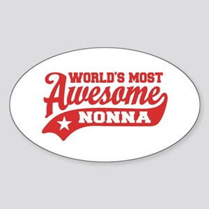 World's Most Awesome Nonna Sticker (Oval)