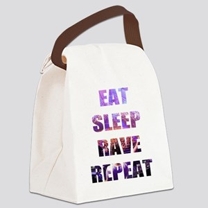 Eat Sleep Rave Repeat Canvas Lunch Bag
