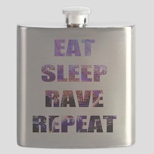 Eat Sleep Rave Repeat Flask