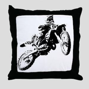 motor cross Throw Pillow