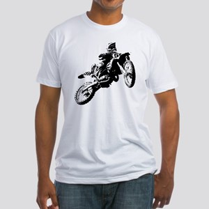 motor cross Fitted T-Shirt
