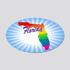 Rainbow State 20x12 Oval Wall Decal