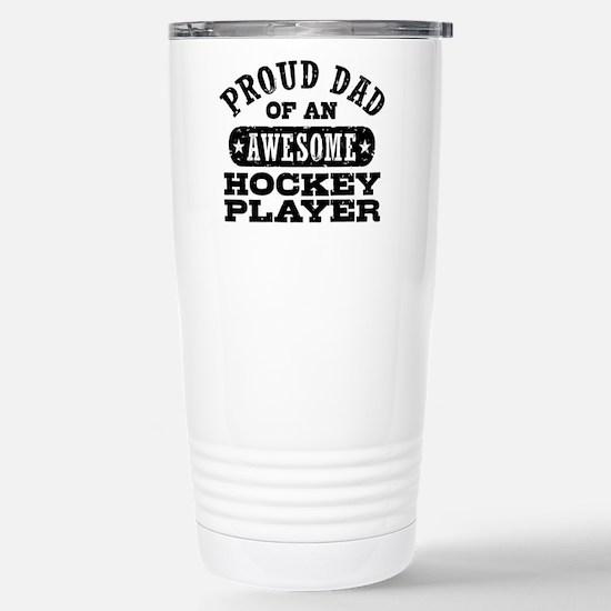 Proud Hockey Dad Stainless Steel Travel Mug