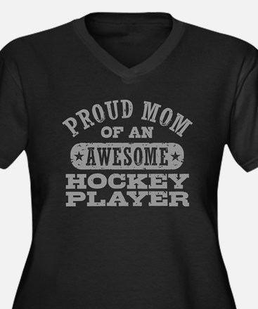 Proud Hockey Women's Plus Size V-Neck Dark T-Shirt