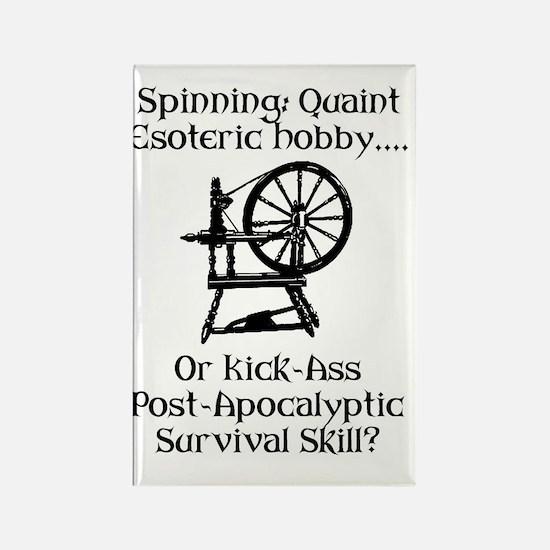 Spinning Wheel Survival Rectangle Magnet