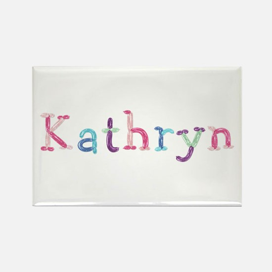 Kathryn Princess Balloons Rectangle Magnet