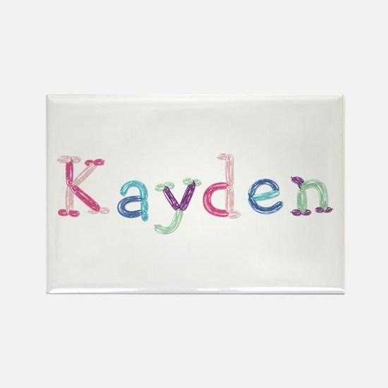 Kayden Princess Balloons Rectangle Magnet