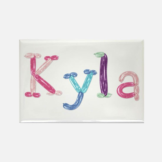 Kyla Princess Balloons Rectangle Magnet